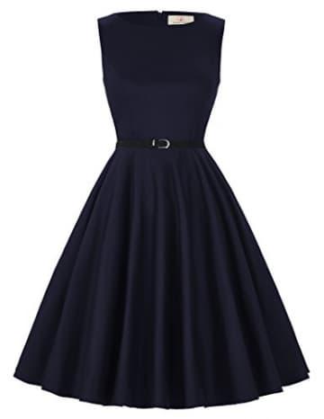 1950er Rockabilly kleid vintage-kleid audrey hepburn schwingen pinup damen kleider 2XL -