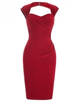 1950er Style Vintage Kleid Elegant Etuikleid Knielang Festliche Kleider 36 BP155-1 -