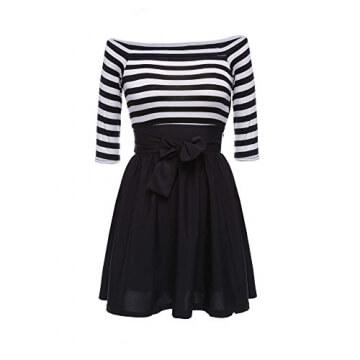 kleid damen kurz Knielang Chiffon Kleider Abendkleider Ballkleider - 1