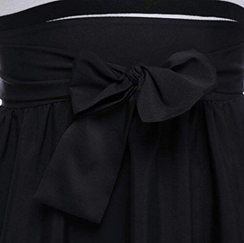 kleid damen kurz Knielang Chiffon Kleider Abendkleider Ballkleider - 4