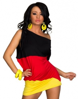 3354 flaggen Mini kleid Deutschland EM WM Fußball Gr. SM 34 36 Multicolor - 1