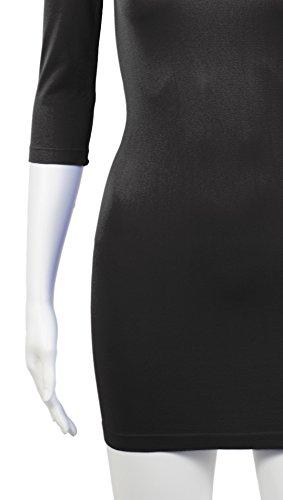 3/4 Arm Schlichtgeschnittenes Elastisches Figurbetontes Abendkleid Clubkleid Partykleid Cocktailkleid - 7