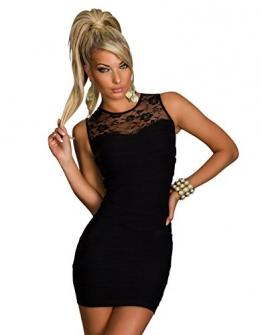 4850 Ärmelloses transparentes Minikleid dress verfügbar in 5 Farben (Schwarz 4850-1) - 1