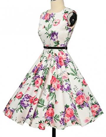 50er jahre kleid abschlussballkleid baumwolle faltenrock sommerkleid petticoat kleid Größe L CL6086-21 -