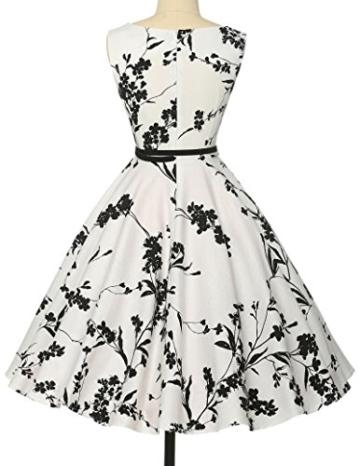 50s vintage retro festliches kleid sommerkleid kurz rockabilly kleid petticoat kleid Größe XL CL6086-11 - 2