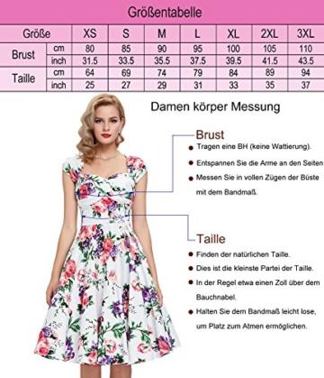 50s vintage retro festliches kleid sommerkleid kurz rockabilly kleid petticoat kleid Größe XL CL6086-11 - 3