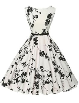 50s vintage retro festliches kleid sommerkleid kurz rockabilly kleid petticoat kleid Größe XL CL6086-11 - 1
