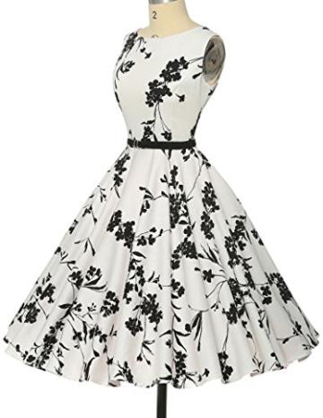 50s vintage retro festliches kleid sommerkleid kurz rockabilly kleid petticoat kleid Größe XL CL6086-11 - 5