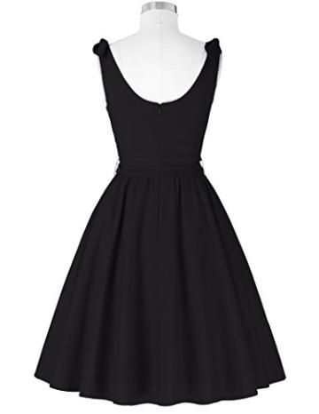 50s vintage rockabilly kleid damen schwarz festliches kleid partykleider cocktailkleid Größe S BP000251-1 - 2