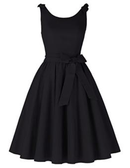 50s vintage rockabilly kleid damen schwarz festliches kleid partykleider cocktailkleid Größe S BP000251-1 - 1