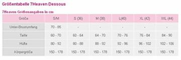 7-Heaven Pinkes Damen Gogo Party Wetlook-Kleid dehnbar mit Spitze Mini Kleid kurz rosa XL - 3