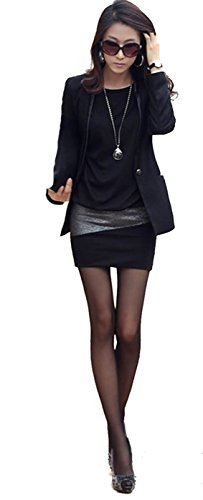 95-31 Mississhop Damen Minikleid festlich glitzer Kleid Pulli Tunika Cappuccino L - 2