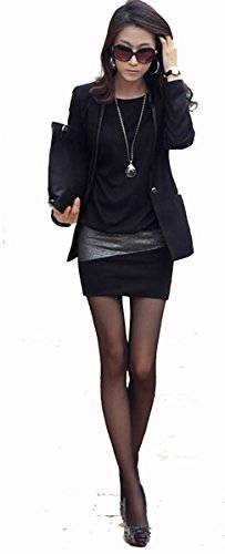 95-31 Mississhop Damen Minikleid festlich glitzer Kleid Pulli Tunika Cappuccino L - 4