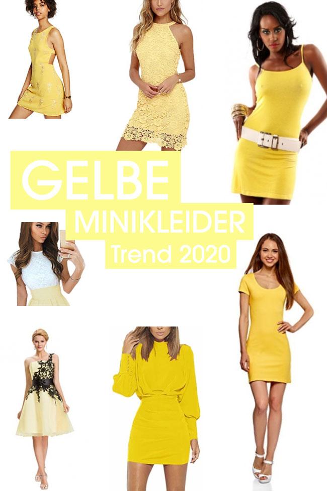 +25 sexy Minikleider in Gelb - Sommertrend 2020