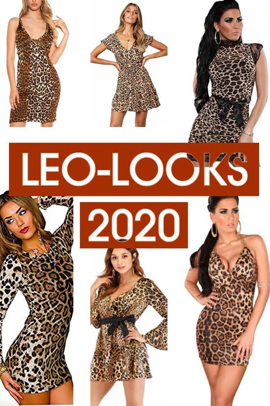 Sexy Leopardenmuster-Minikleider