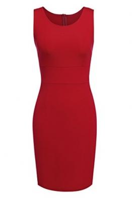 ACEVOG Damen Kleid Ärmellos Bodycon Cocktailkeid Rot Herstellergröße: M -