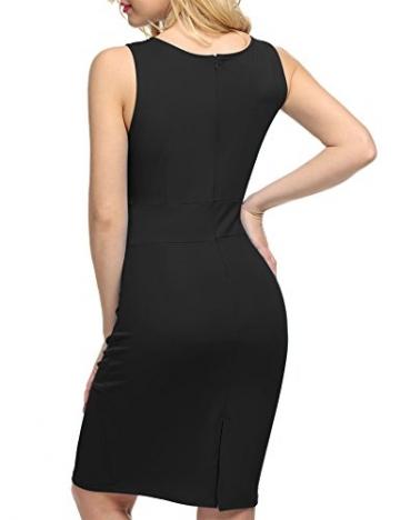 ACEVOG Damen Kleid Ärmellos Bodycon Cocktailkeid Schwarz Herstellergröße: XL -
