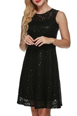 ACEVOG Damen Kleid Spitzenkleid Partykleid Elegant Cocktailkleid Sommerkleid Festlich Knielang -