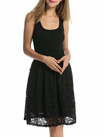 ACEVOG Damen Kleid Spitzenkleid Sommerkleid Partykleid Festlich Hochzeit A-Linie Knielang Ärmellos -