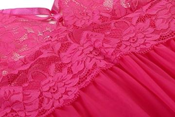 ADOME Negligee sexy Dessous Nachtwäsche Kleid Rosen Rot 6