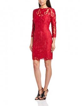 Adrianna Papell Damen A-Linie Kleid, Einfarbig Rot - Red (Ruby), Gr. 40 EU / 10 UK - 1