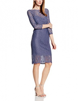 Adrianna Papell Damen, Cocktail, Kleid, Long Sleeve Lace Cocktail, GR. 36 (Herstellergröße: Size 10), Grau (dark Heather) - 1