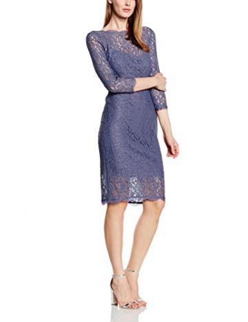 Adrianna Papell Damen, Cocktail, Kleid, Long Sleeve Lace Cocktail, GR. 36 (Herstellergröße: Size 10), Grau (dark Heather) - 1