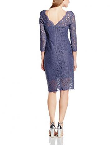 Adrianna Papell Damen, Cocktail, Kleid, Long Sleeve Lace Cocktail, GR. 36 (Herstellergröße: Size 10), Grau (dark Heather) - 2