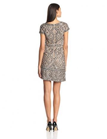 Adrianna Papell Damen Kleid, Cap SLV Bead, GR. 36 (Herstellergröße: Size 10), Beige (nude) - 2