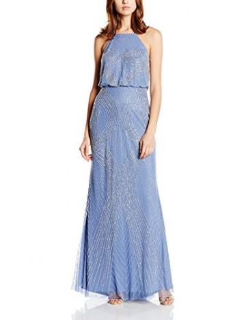 Adrianna Papell Damen Neckholder Kleid, Gr. 36, Blau (French Blue) - 1
