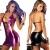 AIGOO Bustier Korsett Kleid Verstellbare Sexy Frauen Faux Leder Backless Kleider Clubwear mit T-Rücken (schwarz) -