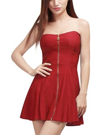 Allegra Minikleid rot mit Reißverschluss schulterfrei