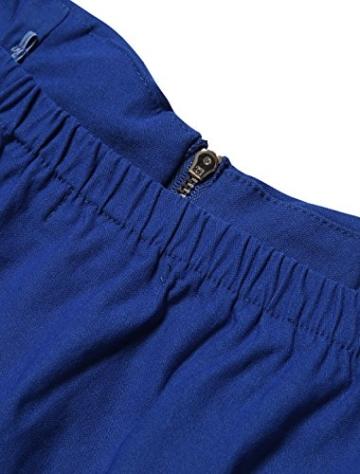 Allegra K Damen Sommer A Linie Reißverschluss Off Shoulder Minikleid Kleid, M (EU 40)/Blau - 6