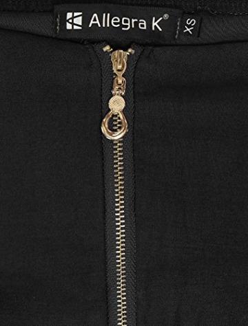 Allegra K Damen Sommer A Linie Reißverschluss Off Shoulder Minikleid Kleid, XL (EU 48)/Schwarz - 6