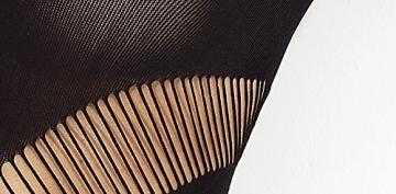 Amazing Girl Außergewöhnlicher Bodystocking Mini Damen kleid schwarz Partykleid Clubkleid GoGo Dessous Negligee Netz Kurz Cut Out - 2