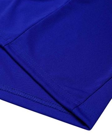 AmazingDays Damen Kleid Chiffon Kleider Lang Minikleid Elegant Ballkleider Abendkleider TüLl Partykleid Sommerkleid Casual (Blau, S) - 5