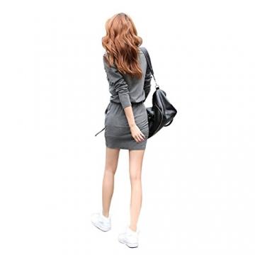 Andy's Share Fashion Frauen Baumwolle Party Tunika Schößchen Lässig Minikleid - 3