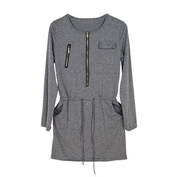 Andy's Share Fashion Frauen Baumwolle Party Tunika Schößchen Lässig Minikleid - 5