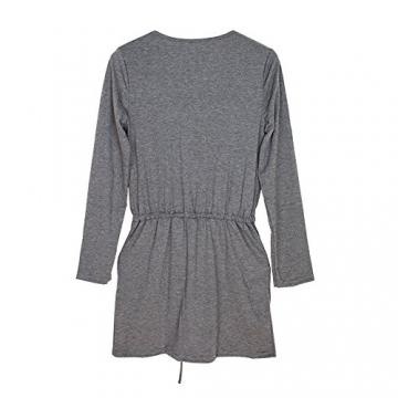Andy's Share Fashion Frauen Baumwolle Party Tunika Schößchen Lässig Minikleid - 6