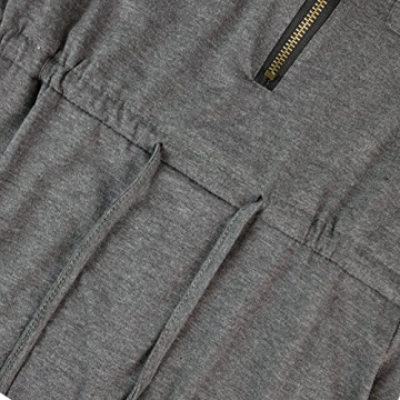Andy's Share Fashion Frauen Baumwolle Party Tunika Schößchen Lässig Minikleid - 8
