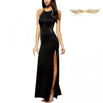 Angelwing Damen Spitzenkleid Elegant Split Kleid Rückenfrei Partykleider Abendkleider -