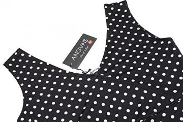 ANGVNS Damen Elegant Cocktailkleid Polka Dots Kleider Tief V-Ausschnitt Wickelkleid Minikleid Abendkleid Partykleid -