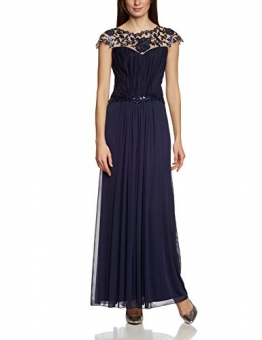 APART Fashion Damen A-Linie Kleid 26604, Maxi, Einfarbig, Gr. 42, Blau (NACHTBLAU) - 1