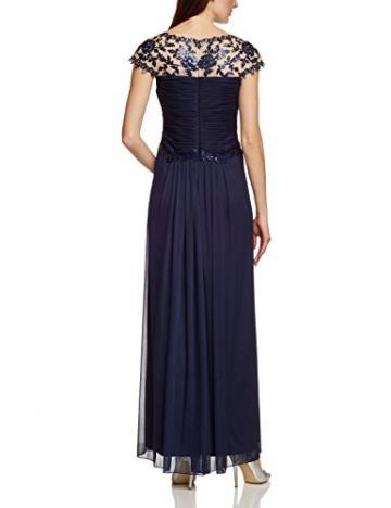 APART Fashion Damen A-Linie Kleid 26604, Maxi, Einfarbig, Gr. 42, Blau (NACHTBLAU) - 2