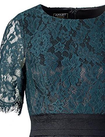 APART Fashion Damen A-Linie Kleid 39532, Knielang, Gr. 42, Schwarz (smaragd-schwarz) - 3