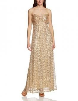 APART Fashion Damen Bustier Kleid 41847, Maxi, Einfarbig, Gr. 34, Gold - 1