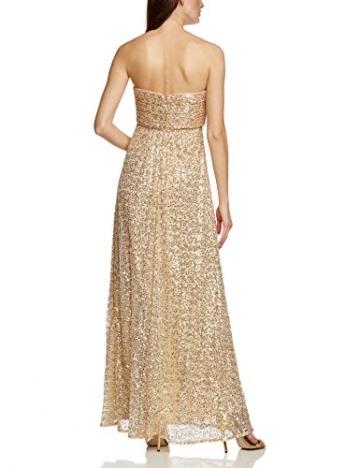 APART Fashion Damen Bustier Kleid 41847, Maxi, Einfarbig, Gr. 34, Gold - 2