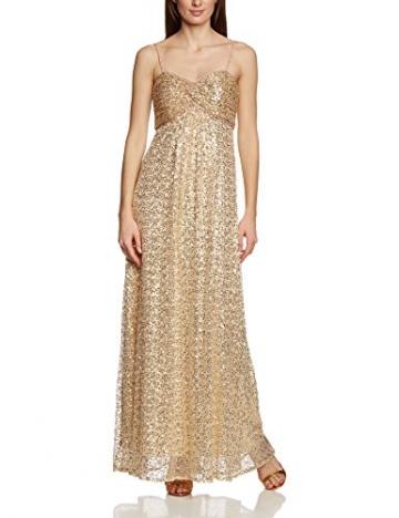 APART Fashion Damen Bustier Kleid 41847, Maxi, Einfarbig, Gr. 34, Gold - 3
