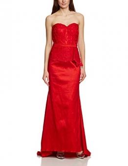 APART Fashion Damen Bustier Kleid 68103, Maxi, Einfarbig, Gr. 38, Rot - 1