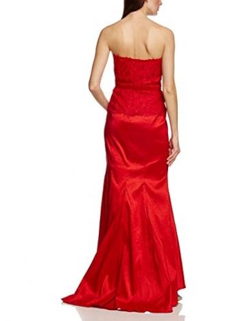 APART Fashion Damen Bustier Kleid 68103, Maxi, Einfarbig, Gr. 38, Rot - 2